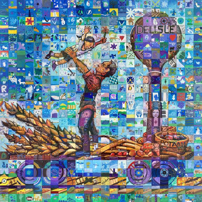 Delisle canada mosaic murals for Cochrane mural mosaic