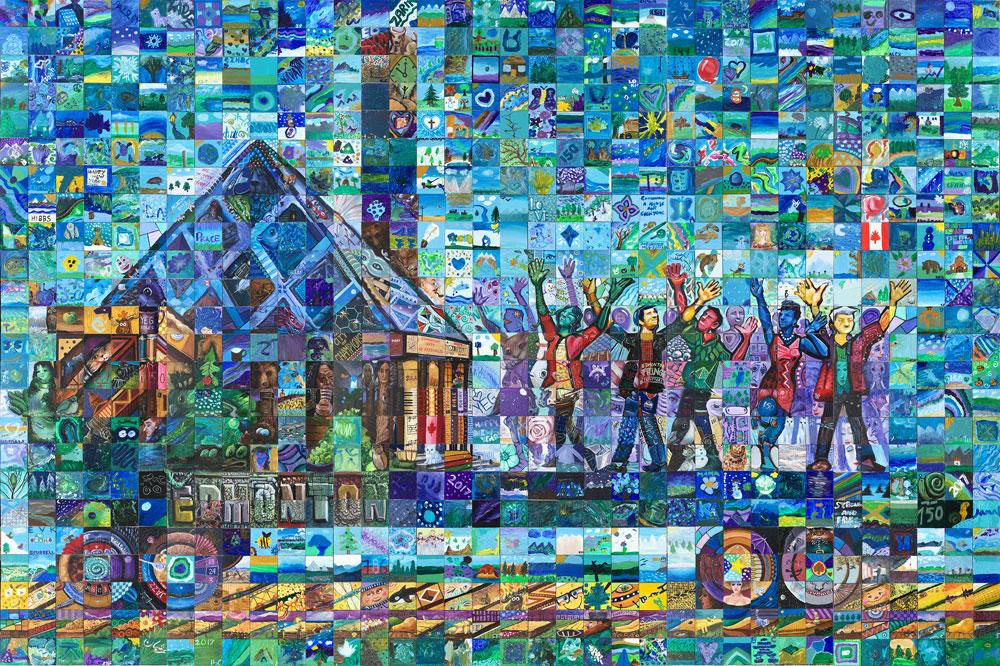 Edmonton canada mosaic murals for Cochrane mural mosaic