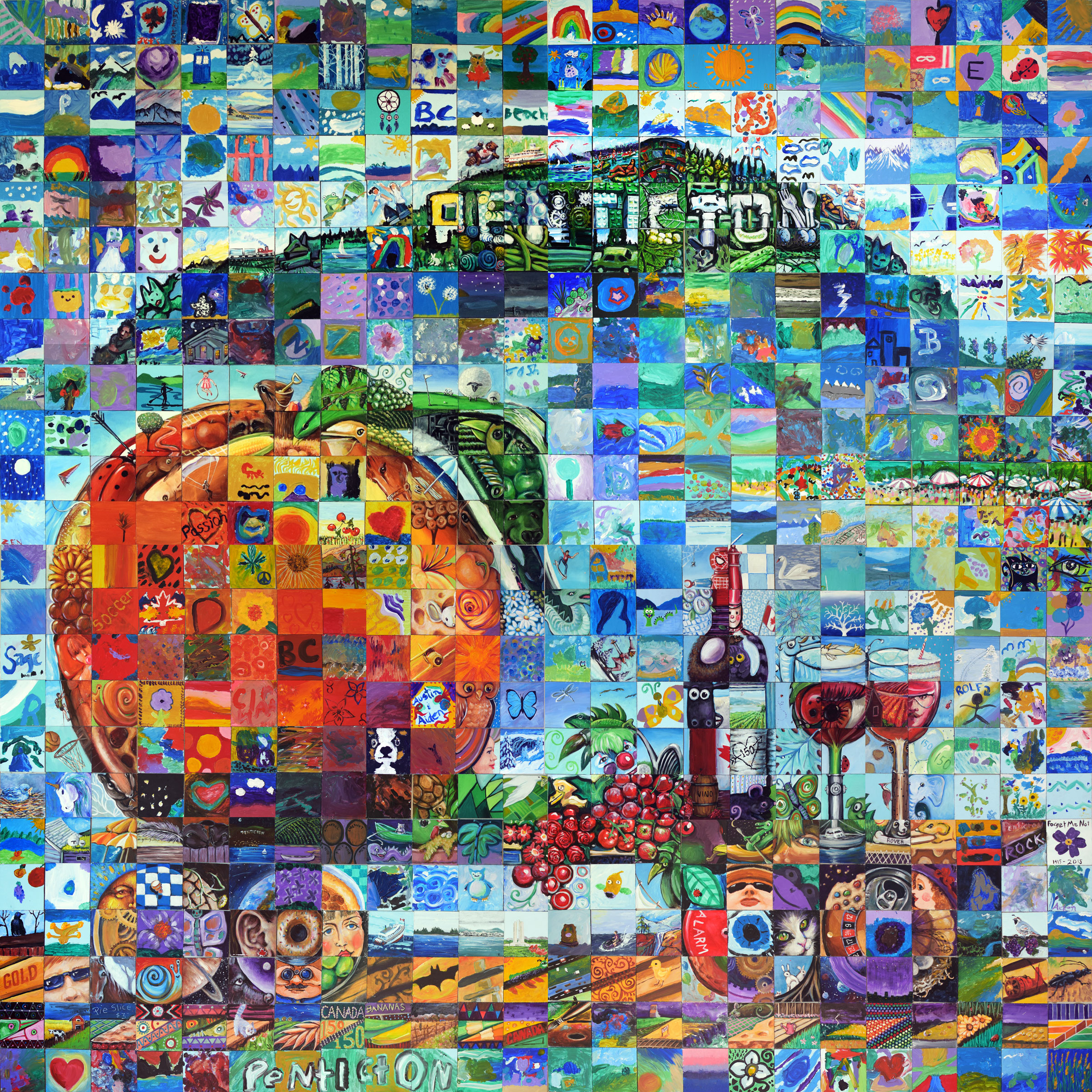 Penticton canada mosaic murals for Thank you mural