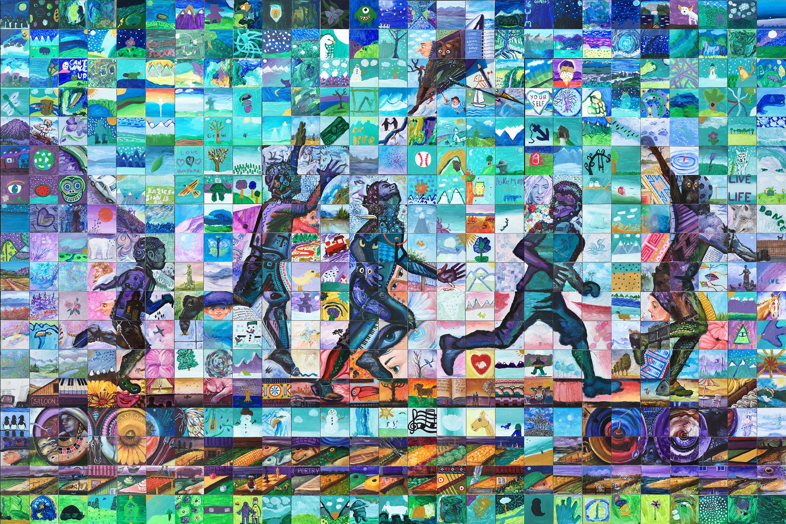 Cochrane canada 150 mosaic for Cochrane mural mosaic