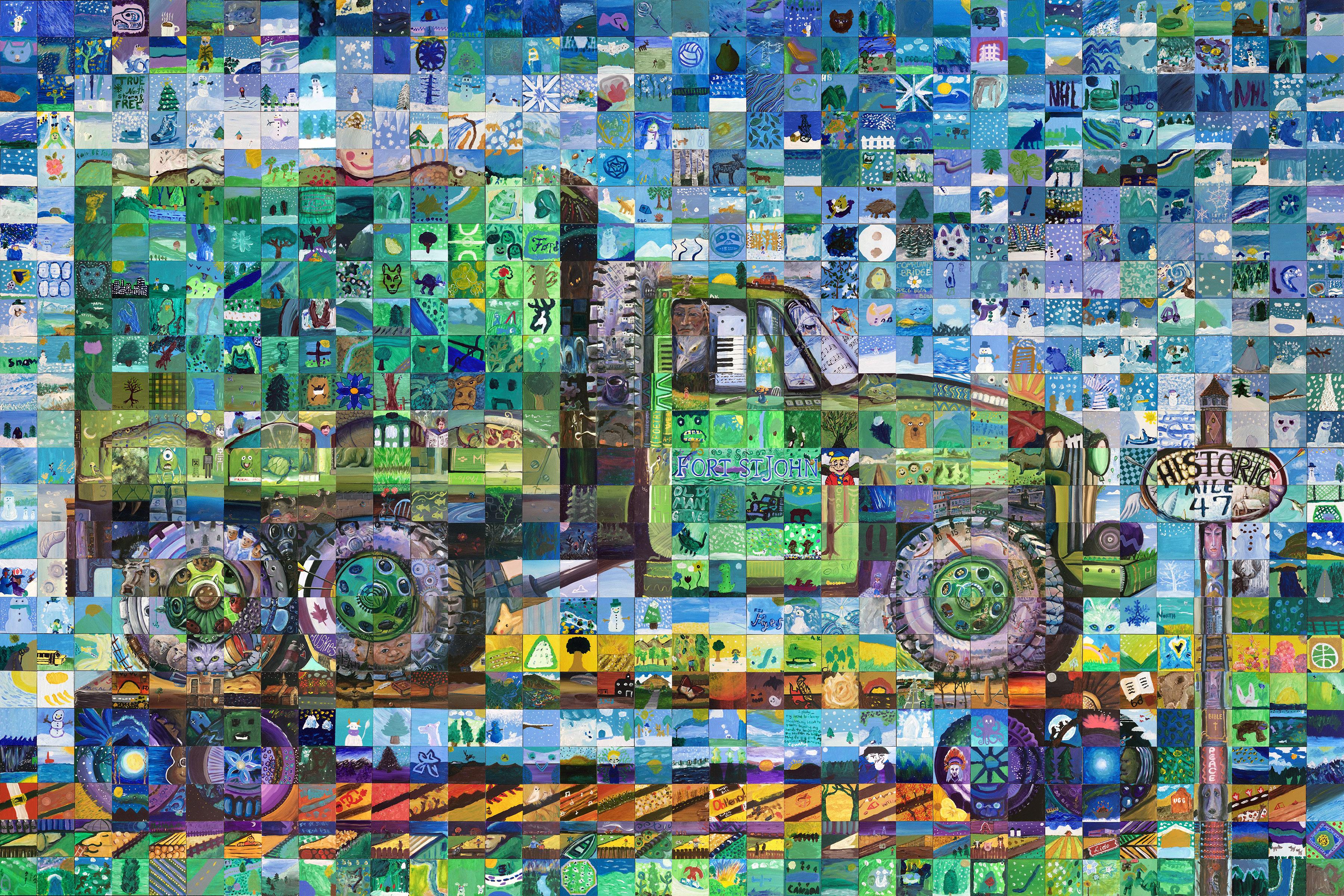 Fort st john canada mosaic murals for Cochrane mural mosaic