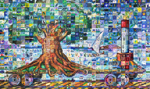 The project canada mosaic murals for Cochrane mural mosaic