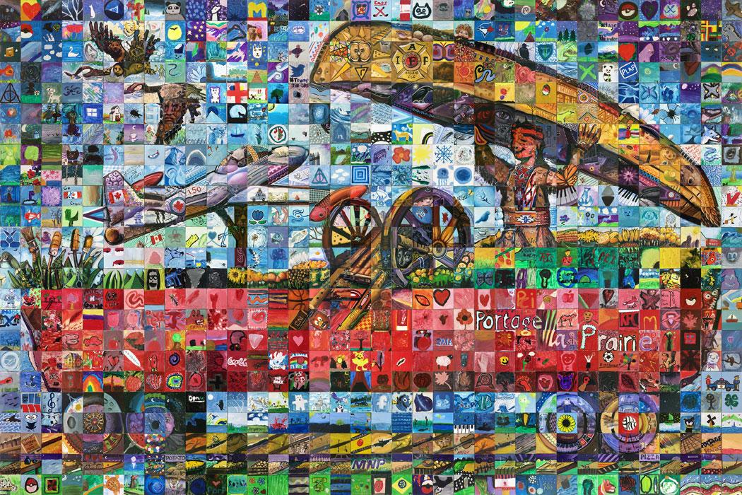 Portage la prairie canada mosaic murals for Cochrane mural mosaic