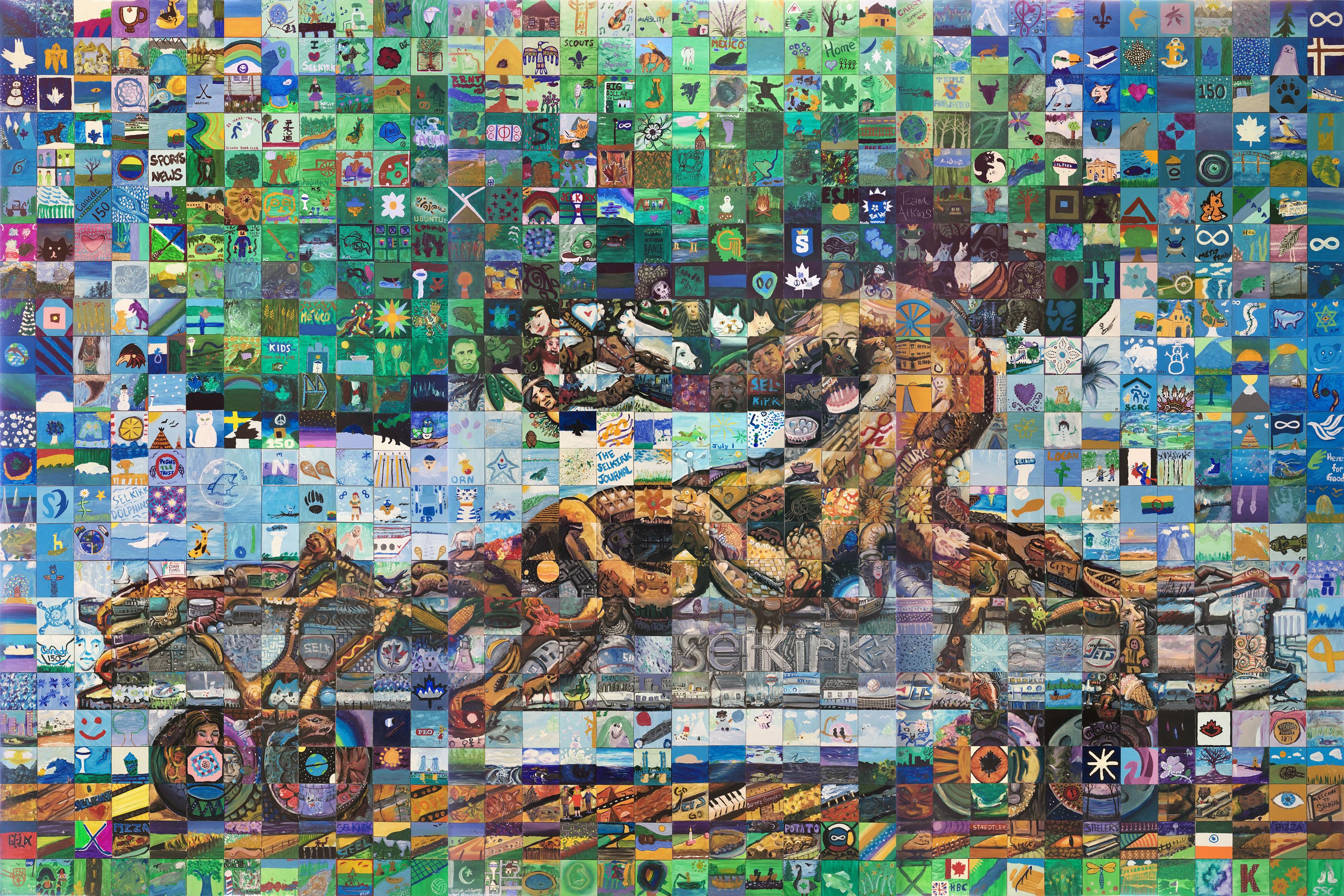 Selkirk canada mosaic murals for Mural mosaic