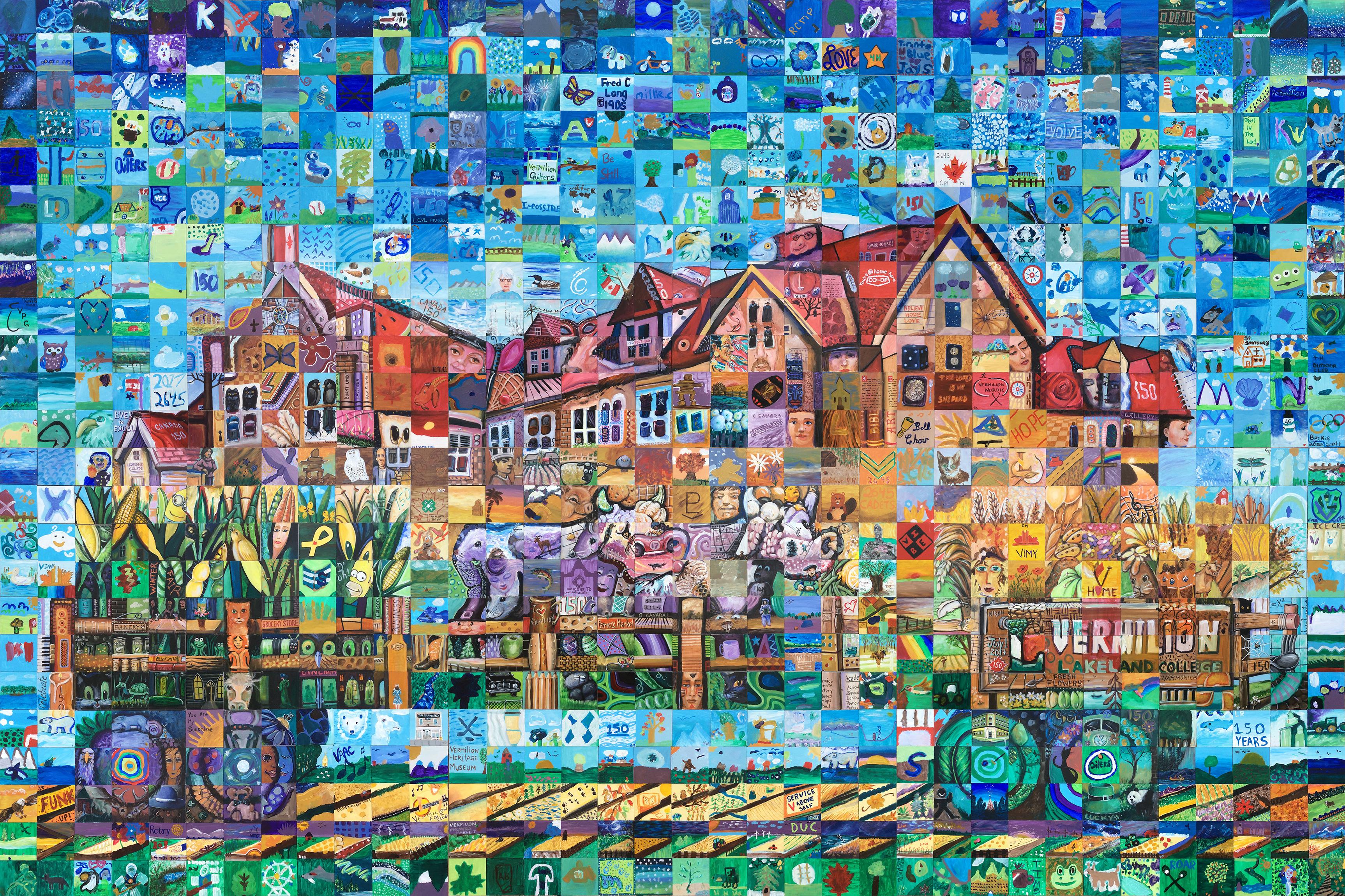 Vermilion canada mosaic murals for Cochrane mural mosaic