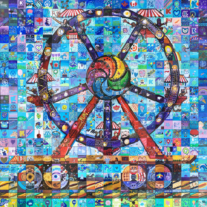 K days canada mosaic murals for Cochrane mural mosaic