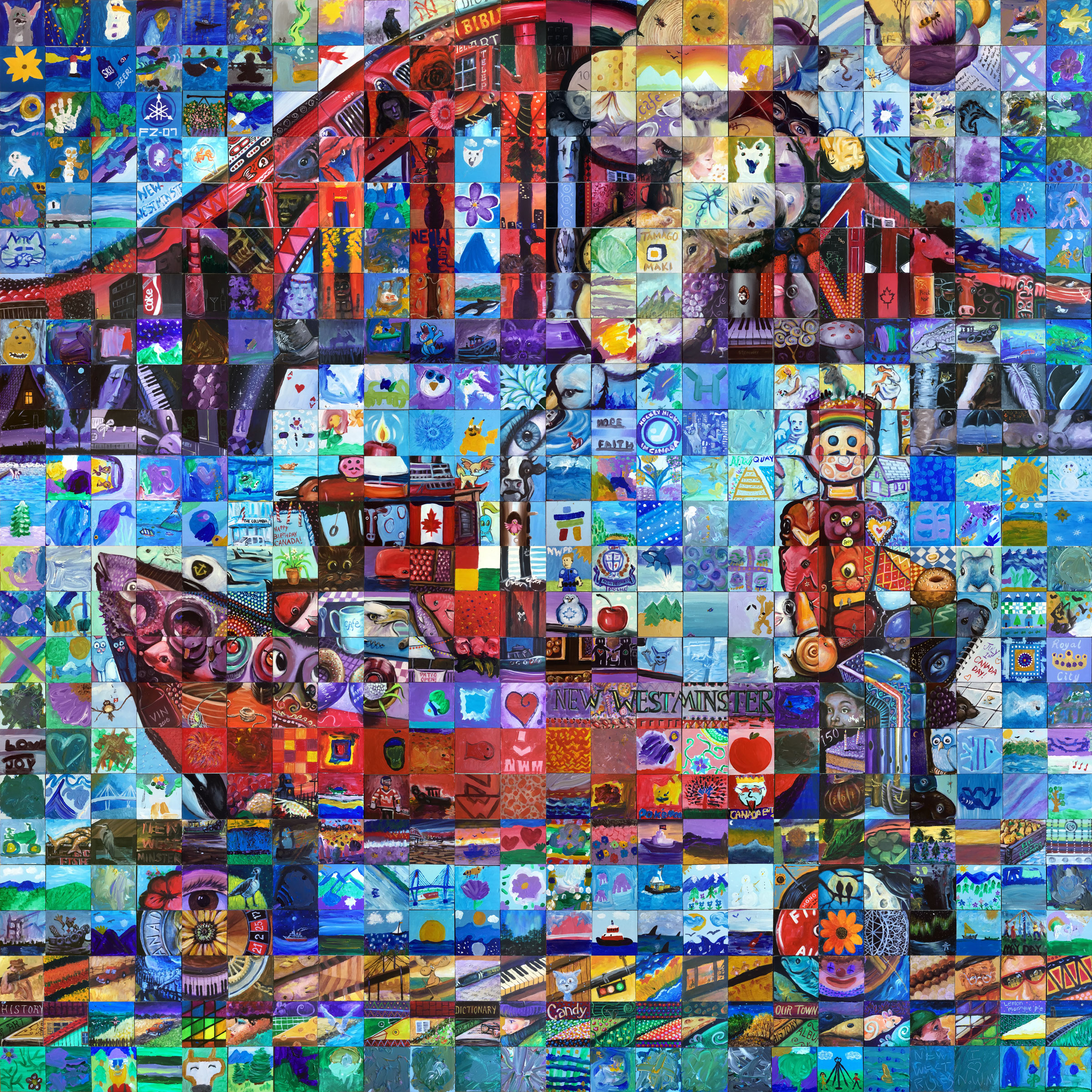 New westminster canada mosaic murals for Cochrane mural mosaic