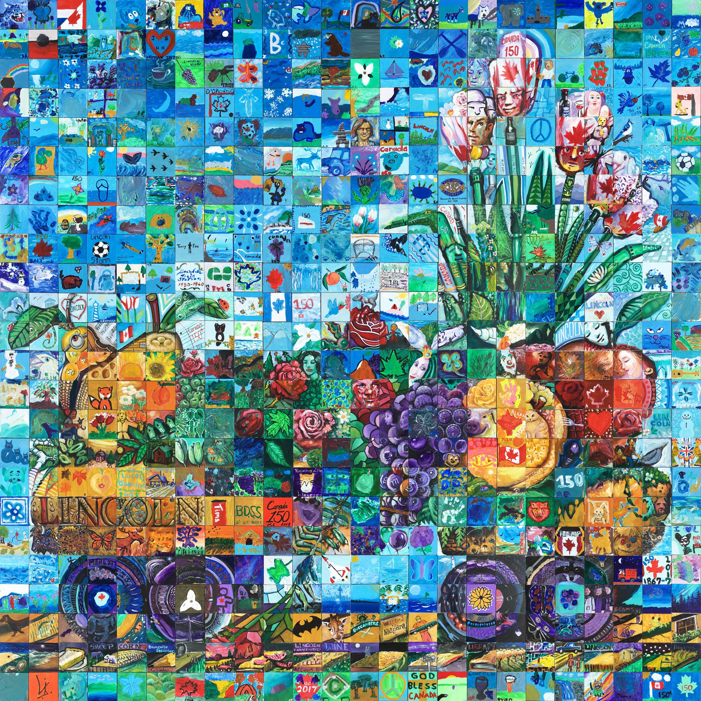 Lincoln canada mosaic murals for Cochrane mural mosaic