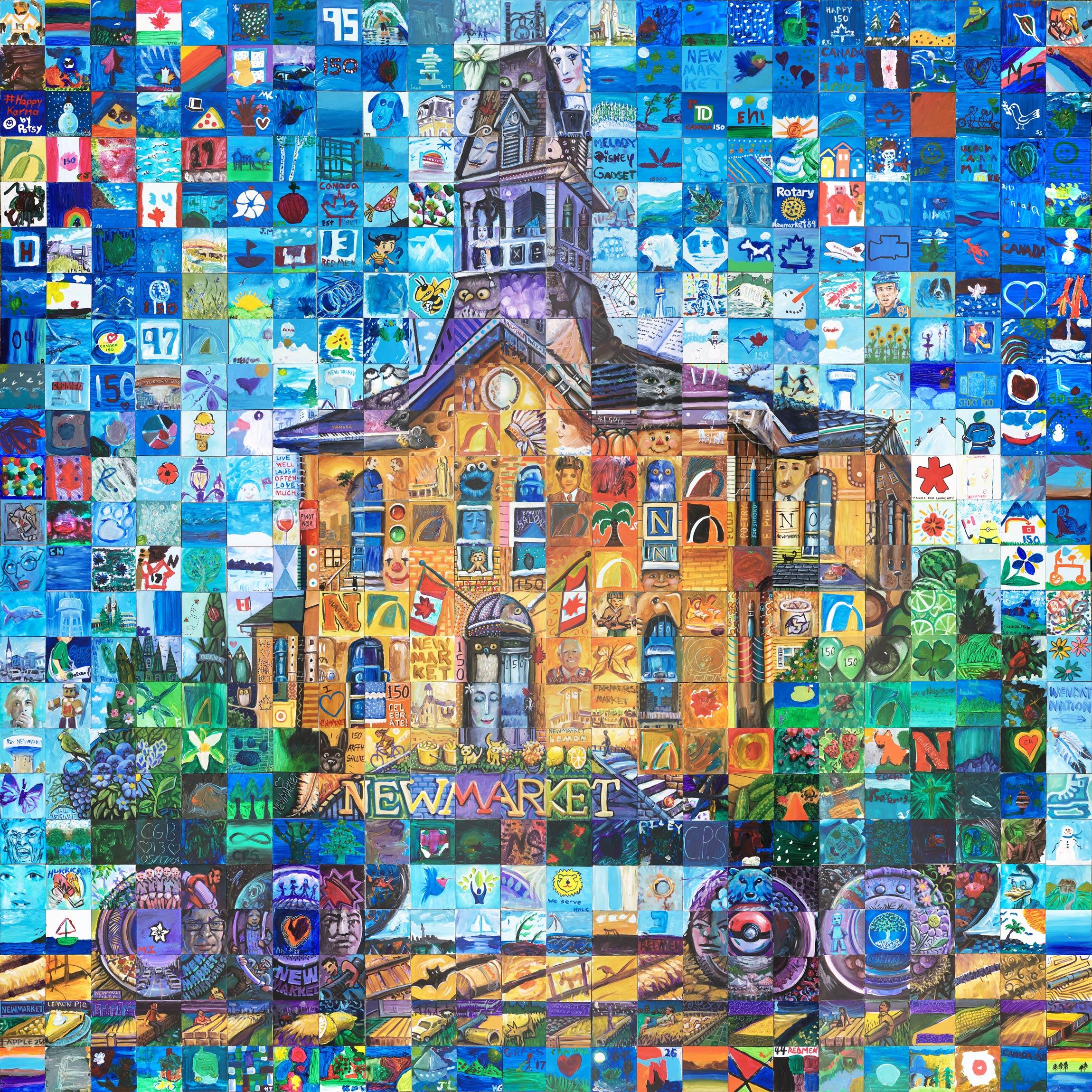 Newmarket canada mosaic murals for Cochrane mural mosaic