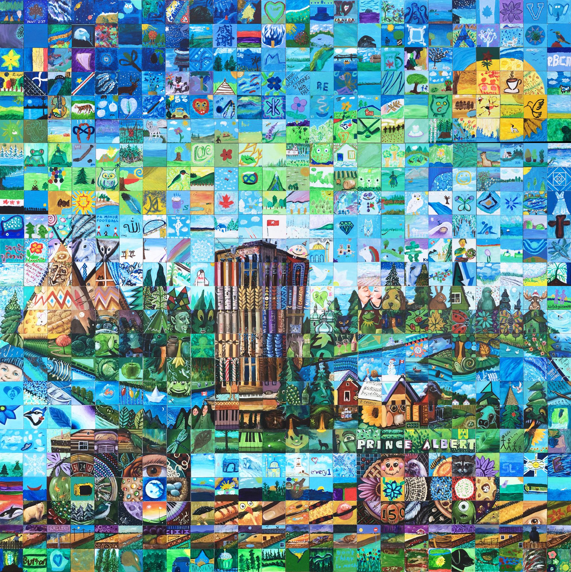 Prince albert canada mosaic murals for Cochrane mural mosaic