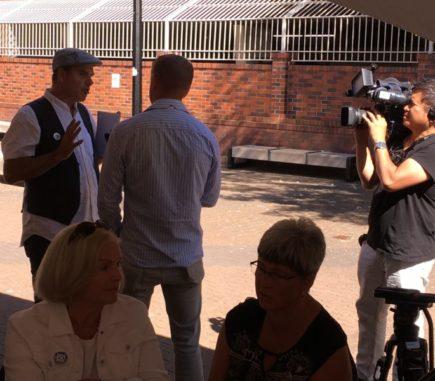 Lewis interviewed by Media