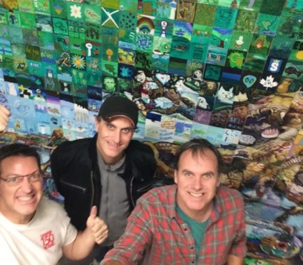 Team Mural Mosaic - Phil, Paul and Lewis