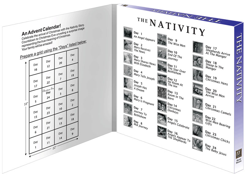 The Nativity -24 PC. Poster Kit