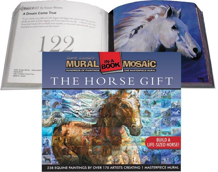 """Horse Mural in a """"book"""""""