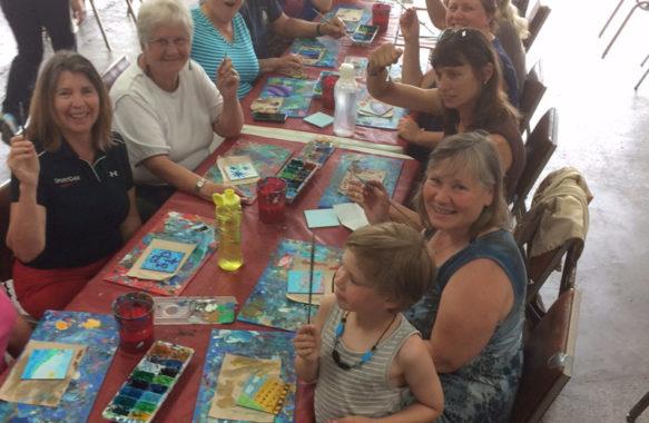 Community Painters assembled