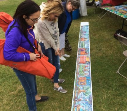 The Canada 150 Mosaic Train coming together