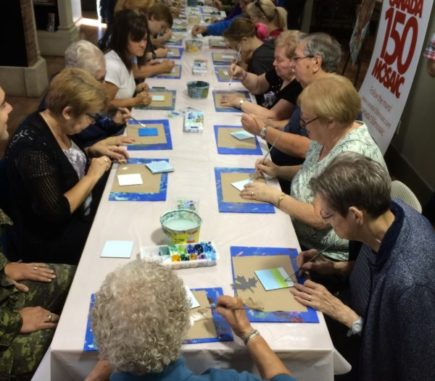 Excellent turnout of Painters for the Moose Jaw Mural!