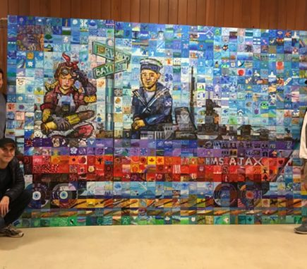 Mural Mosaic Team with Completed Mural