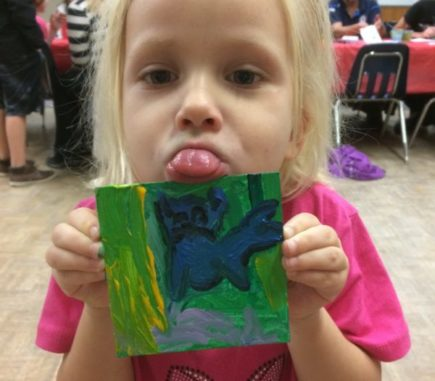 She loves her painting