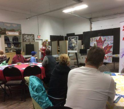 Denise instructing another workshop